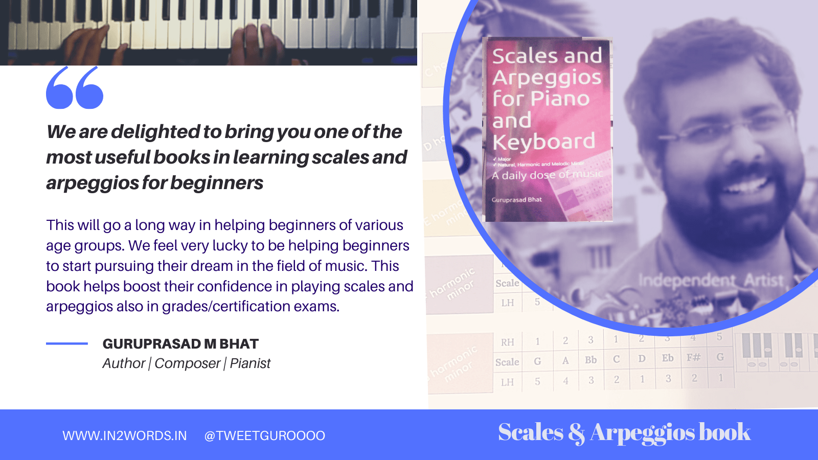 Scales and arpeggios book for piano and keyboard